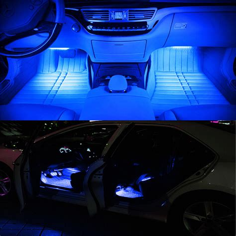 12v car christmas lights ebay 4in1 led car suv interior atmosphere decorative light neon l bulbs 12v ebay