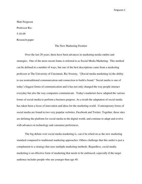 Thesis Topics Social Media Marketing | social media marketing paper 2