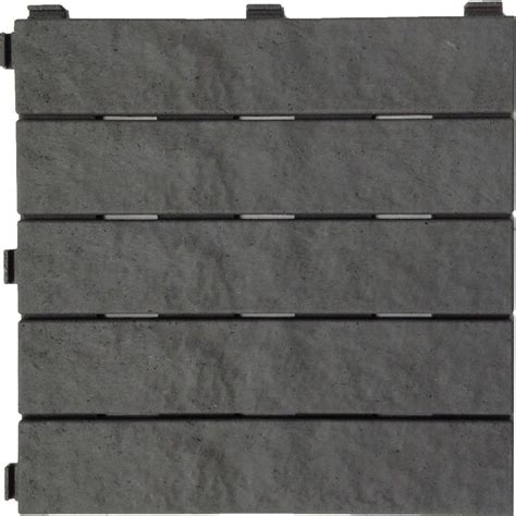 multy home 12 in x 12 in rubber slate deck tile 6 pack