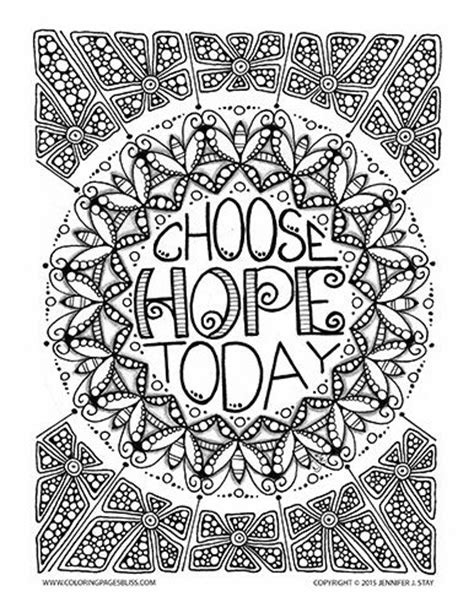 mandala coloring book with quotes choose today free coloring page