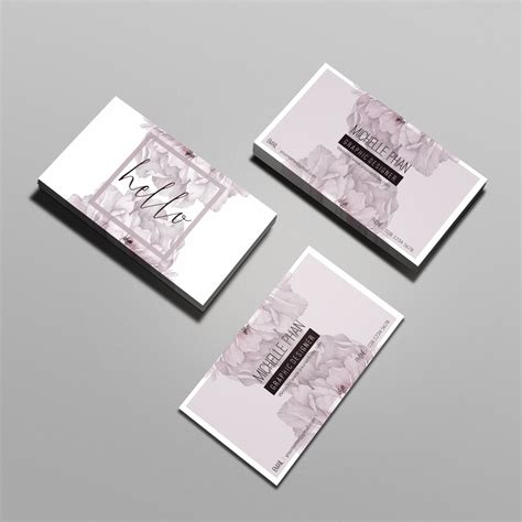 floral business cards templates floral business card template inspiration cardfaves