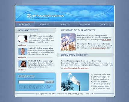 Free Website Templates Provided By Hostgator Com Heating And Air Conditioning Website Templates
