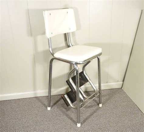 Kitchen Step Stool by Retro 50s Vintage Step Stool Kitchen Stool Chair By