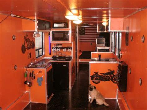 Enclosed Garage Ideas by Inside Of Toyhauler Hauler Builds