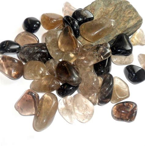 smoky quartz polished gemstone