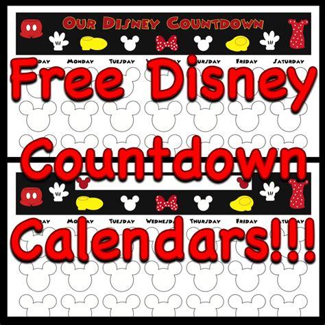 how to make a disney countdown calendar my disney countdown calendars