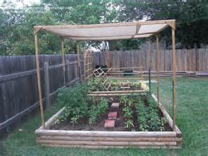Patio Shade Cloth by Raised Garden With A Shade Cloth To Protect The Veggies