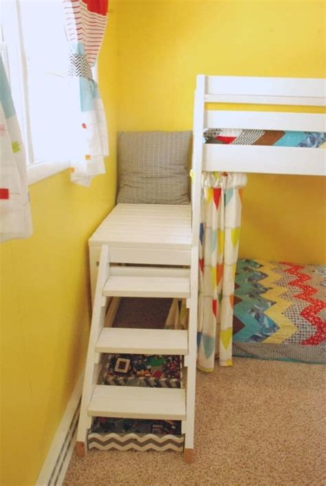 diy loft bed with stairs diy kids loft bunk bed with stairs