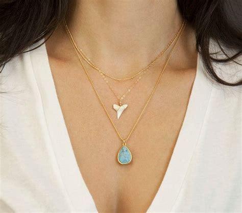 shark tooth necklace favor unique necklace shark