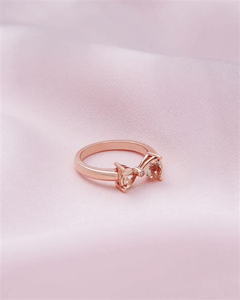 ted baker 9ct gold and morganite ring clear