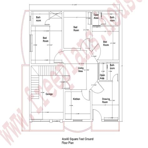 40 square feet 40 215 40 square feet 148 square meters house plan