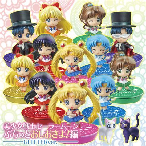 Figure Petit Chibi Original A sailor moon petit chara figures set 1 2 glitter versionsailor moon collectibles