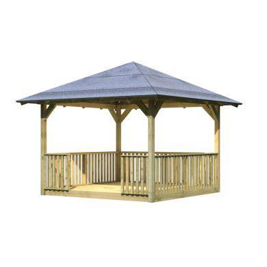 pavillons aus metall 357 kiosque de jardin cordoba gloriette karibu plancher