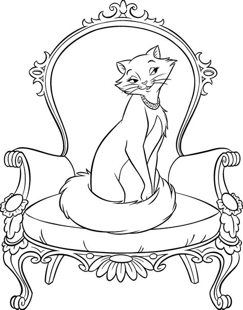 aristocats coloring pages the aristocats coloring page coloring book pages pinterest