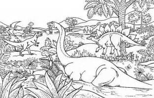 Landscapes Coloring Part 6 Coloriage A Imprimer Dinosaures Gratuit Et Colorier
