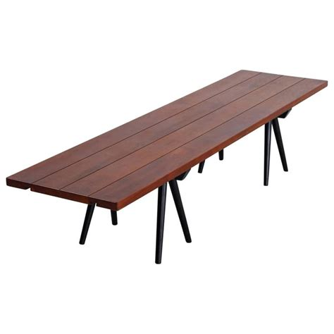 bench usa studio crafted long walnut bench usa 1960s for sale at