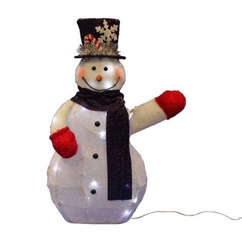 animated waving snowman christmas display