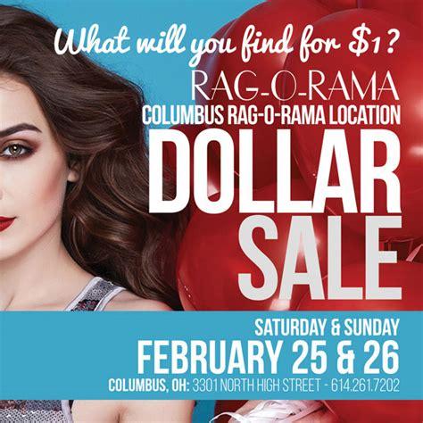 rag o rama dollar sale 2016 dates announced for the rag o rama dollar sale in columbus
