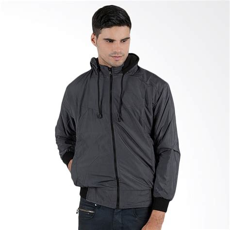 Jaket Hoodie Parka Pria Fleece Biru 202h4 jual elfs shop parasut reverseable fleece jaket hoodie hitam abu tua harga kualitas