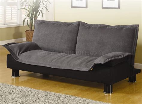 convertible loveseat bed modern microfiber convertible sofa bed 300177 grey black