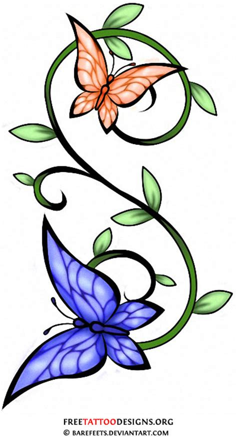 rose vine butterfly tattoo the gallery for gt vine stencil
