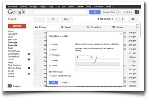 gmail bandeja de entrada probando la nueva bandeja de entrada de gmail 187 enrique dans