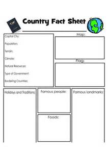Fact File Template Ks2 by Country Fact File World Map Template Worksheet Geography