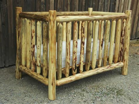 log crib on