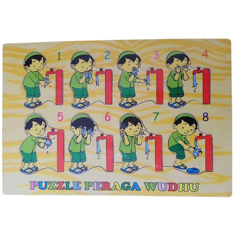 Mainan Edukatif Edukasi Pembelajaran Anak Puzzle Kayu 4x4 Pk112 jual mainan edukasi anak islami puzzle peraga wudhu