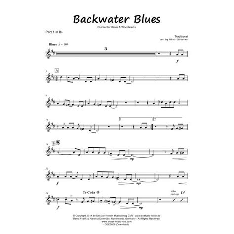back water blues backwater blues exklusiv noten musikverlag inhaber