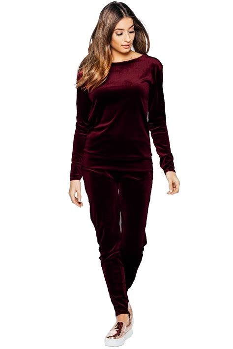 5 Beautiful Velvet Pieces To by Velour Velvet 2 Lounge Wear Tracksuit Casual