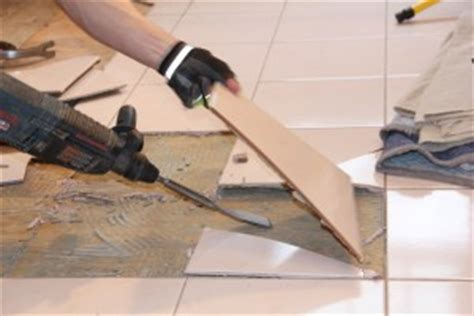 Removing Ceramic Floor Tile How To Remove A Tile Floor And Underlayment A Concord Carpenter