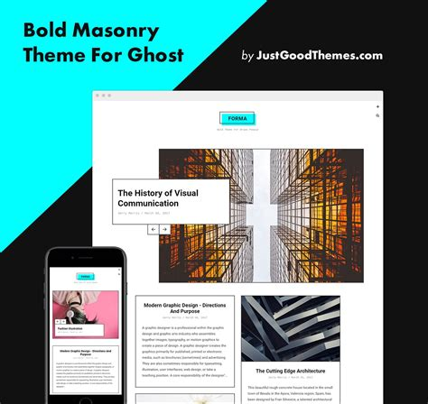 themeforest ghost download themeforest forma bold masonry theme for ghost