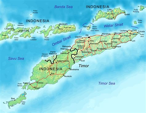 east timor maps map of east timor democratic republic of timor leste maps