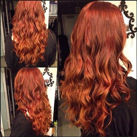warm color hair highlight palette rich warm red copper highlights red hair pinterest