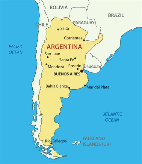 neighboring countries of brazil map argentina neighboring countries