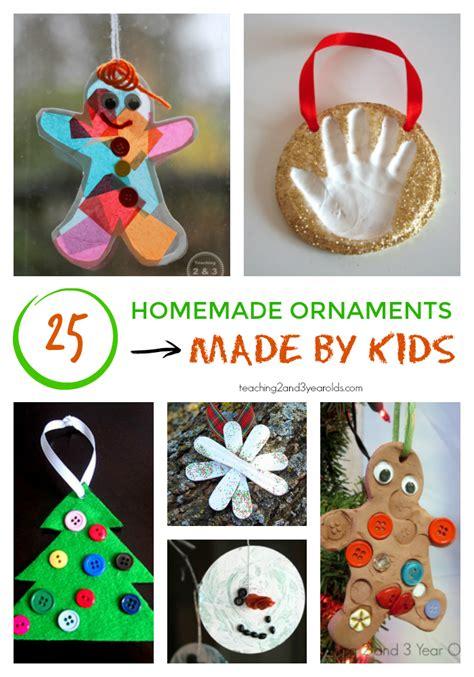homemade christmas ornaments  kids