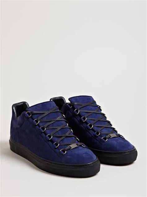 blue balenciaga arena sneakers balenciaga arena trainers in blue for lyst