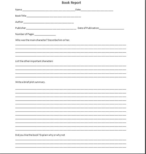 6th Grade Book Report Template Pdf 6th Grade Book Report Template Car Interior Design
