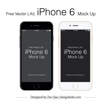 eps format size free vector apple iphone 6 mockup in ai eps format