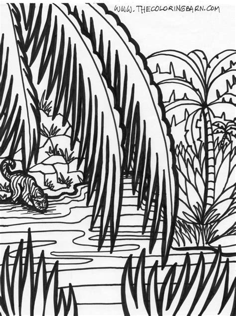 coloring pages of jungle scenes jungle coloring pages jungle scene coloring pages