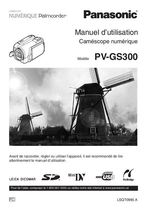 Four Micro Onde 3780 by Mode D Emploi Panasonic Pv Gs300 233 Scope Trouver Une