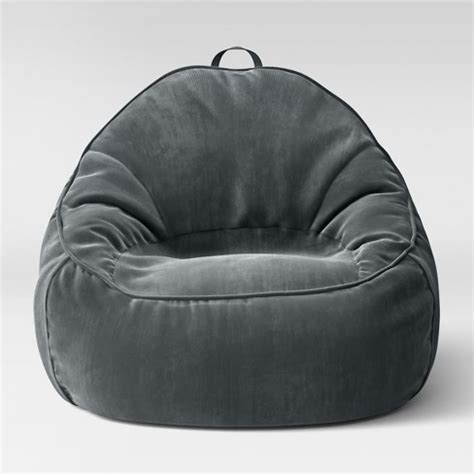 structured bean bag chair xl structured bean bag chair removable cover corduroy zig