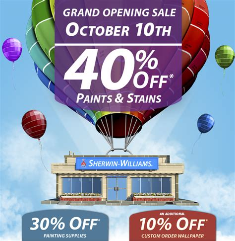 Sherwin Williams Gift Cards For Sale - sherwin williams grand opening sale august 29th
