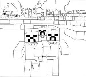 minecraft zombie coloring coloring pages minecraft coloring pages zombies