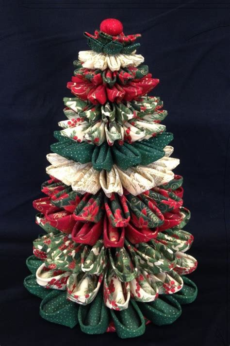 25 best ideas about folded fabric ornaments on pinterest