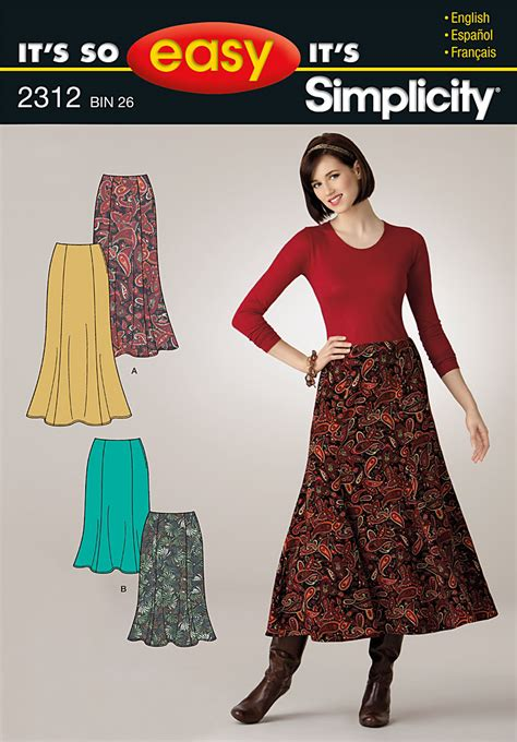 pattern review simplicity 2860 simplicity 2312 it s so easy misses skirts