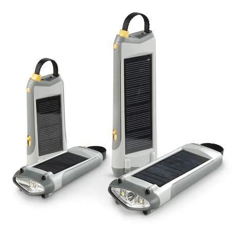 Solar Rechargeable Light 4 Pc Solar Rechargeable Flashlight Set 582173