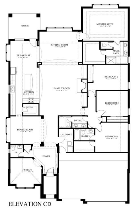 New Home Floor Plans Free Plan 507c Saratoga Homes