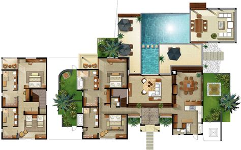Resort House Plans by Disney Club Villas Floor Plan Resort Villa Floor